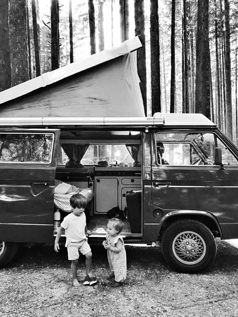 The kids had the best time camping in our Westfalia, Ferdinand.