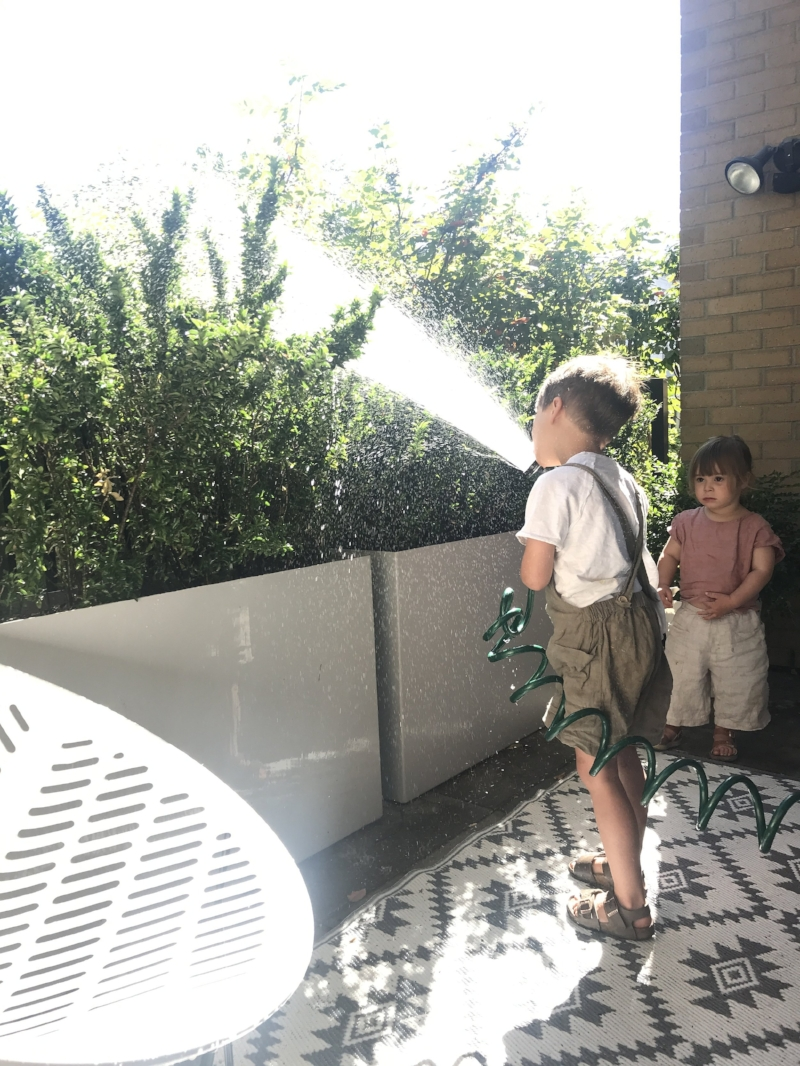 """watering"" the plants"