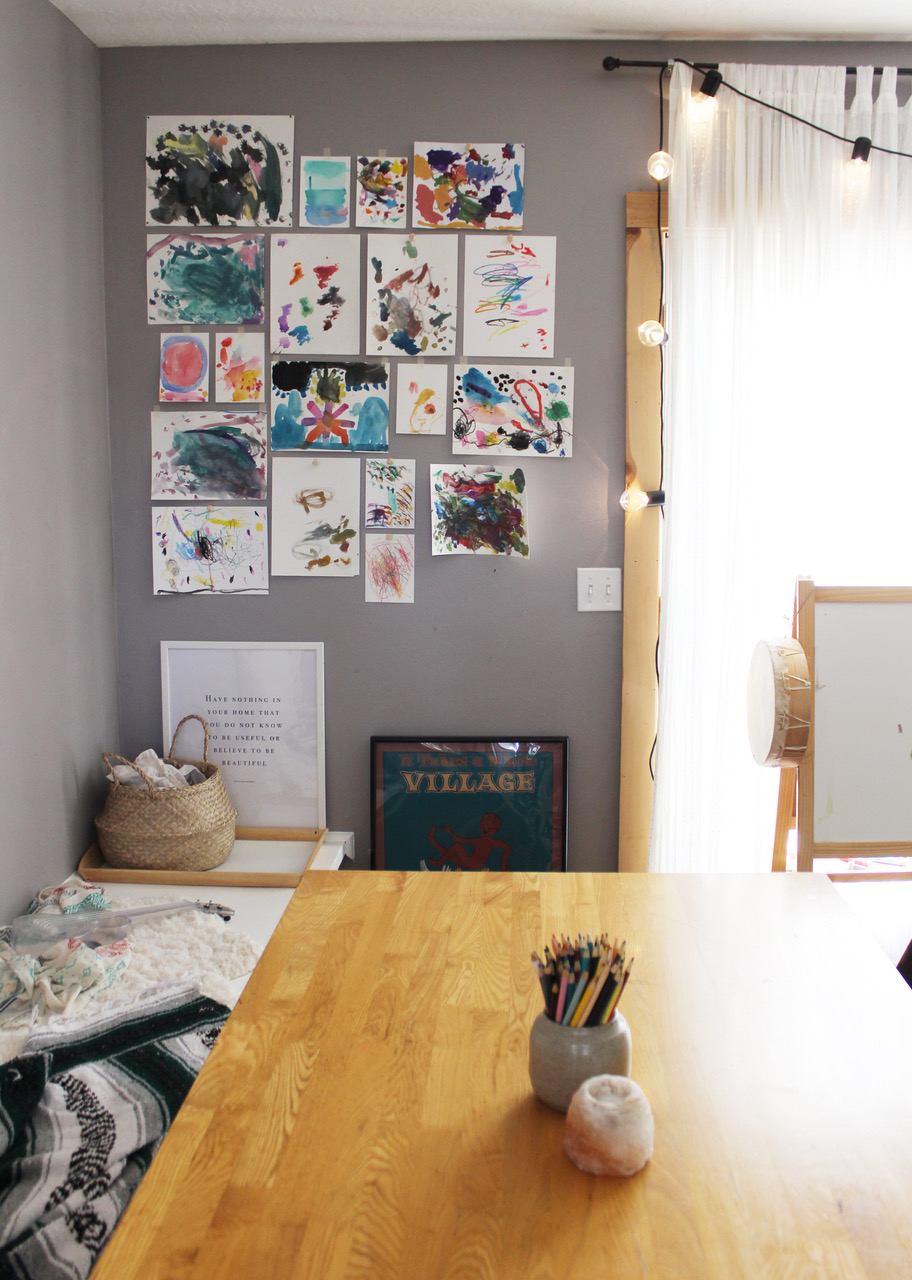 Dining Room and Home Schooling Centre of the Lovely Home of Amanda @coldcupoftea