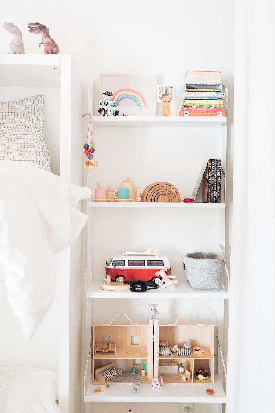 New shelf in the kids' room (photo:  Modern Nest Photography )
