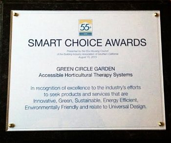 Wheelchair accessible product innovation award for Special needs school, assisted living homes and community gardens