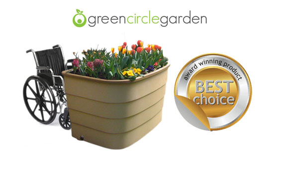 Wheelchair accessible Garden. Raised garden beds for Hospitals, special needs schools and Senior living homes. Award winning.