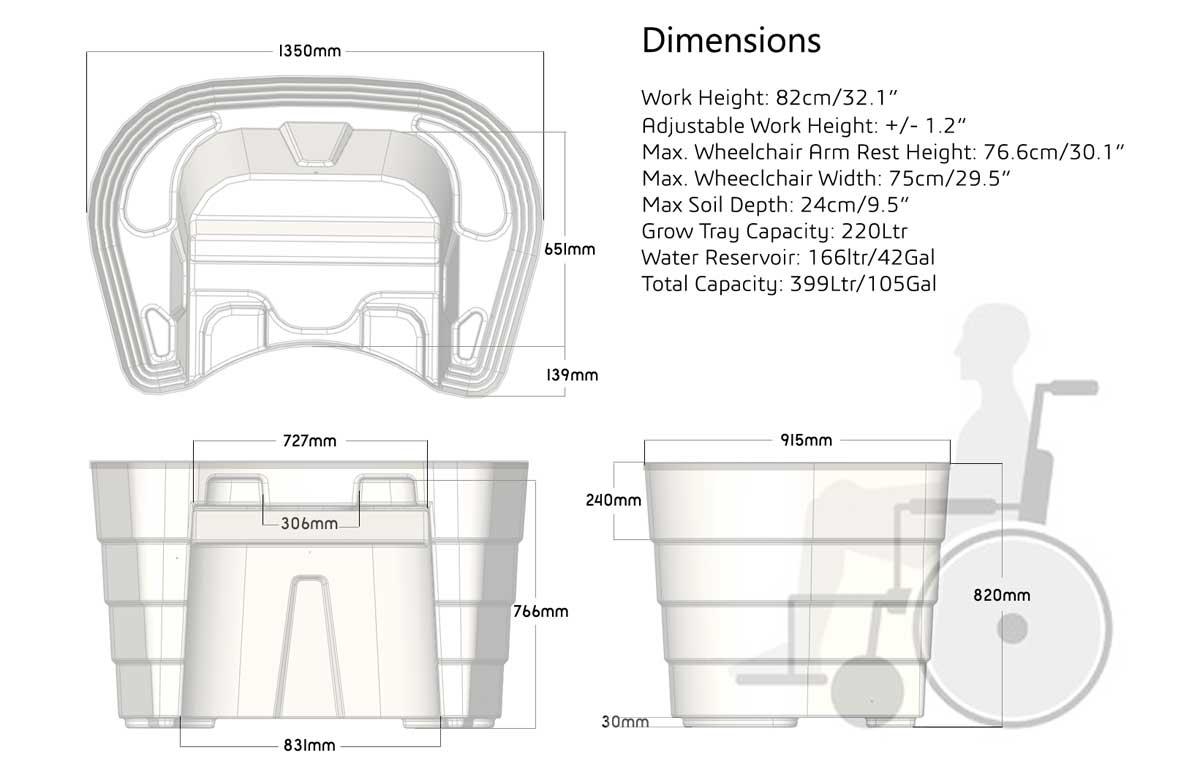 Green-Circle-Enabling Garden design with Wheelchair-access