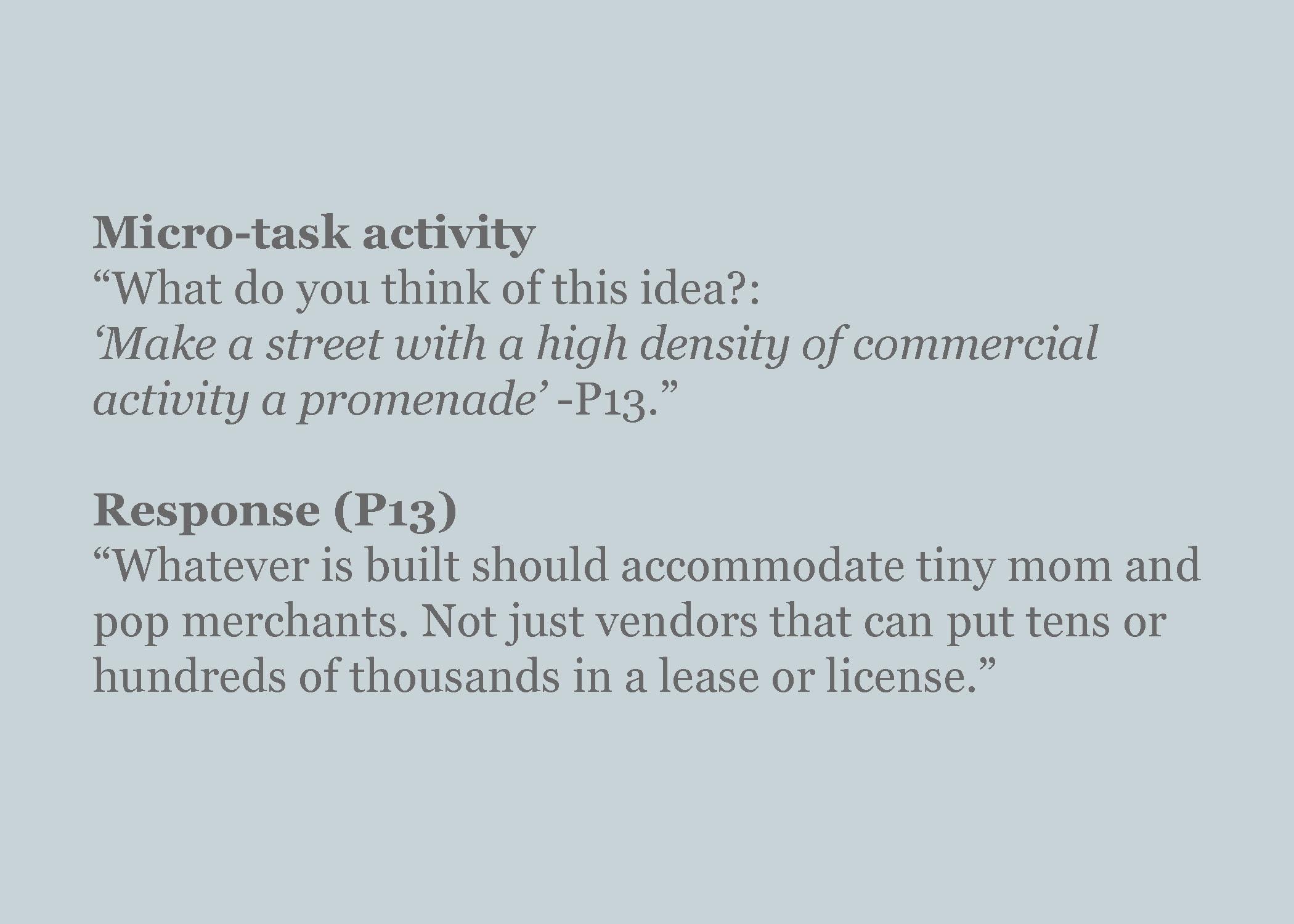 Evaluate an idea