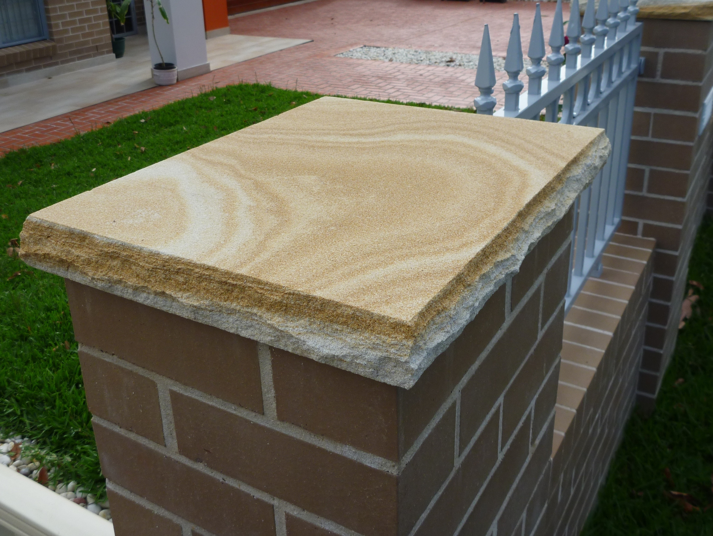 4. Australian Sandstone pier cupping 50mm thick (1)