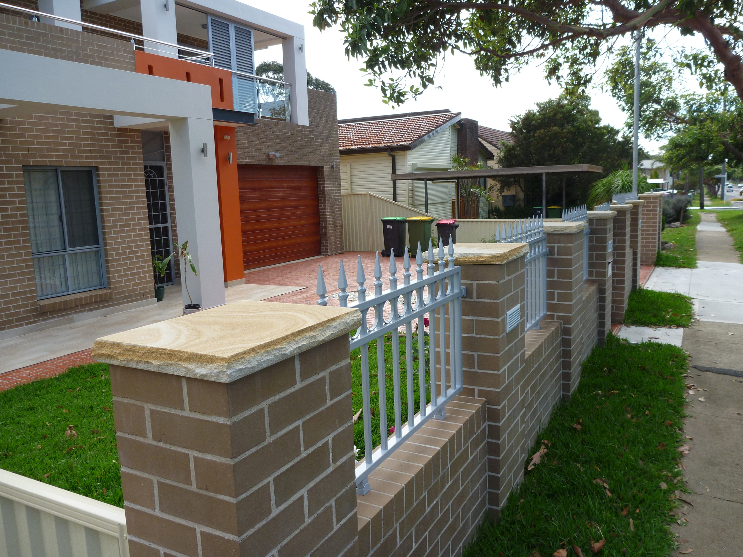 18. Australian Sandstone pier cupping 50mm thick (4)