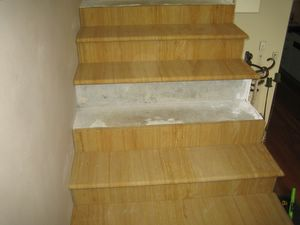 085 Wood grain sandstone slabs cut to create beautiful interior steps.  thickness 20,30,40mm.jpg