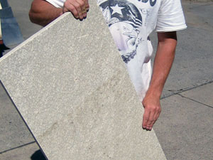 3. Slab of quartzite to be used as a step thread