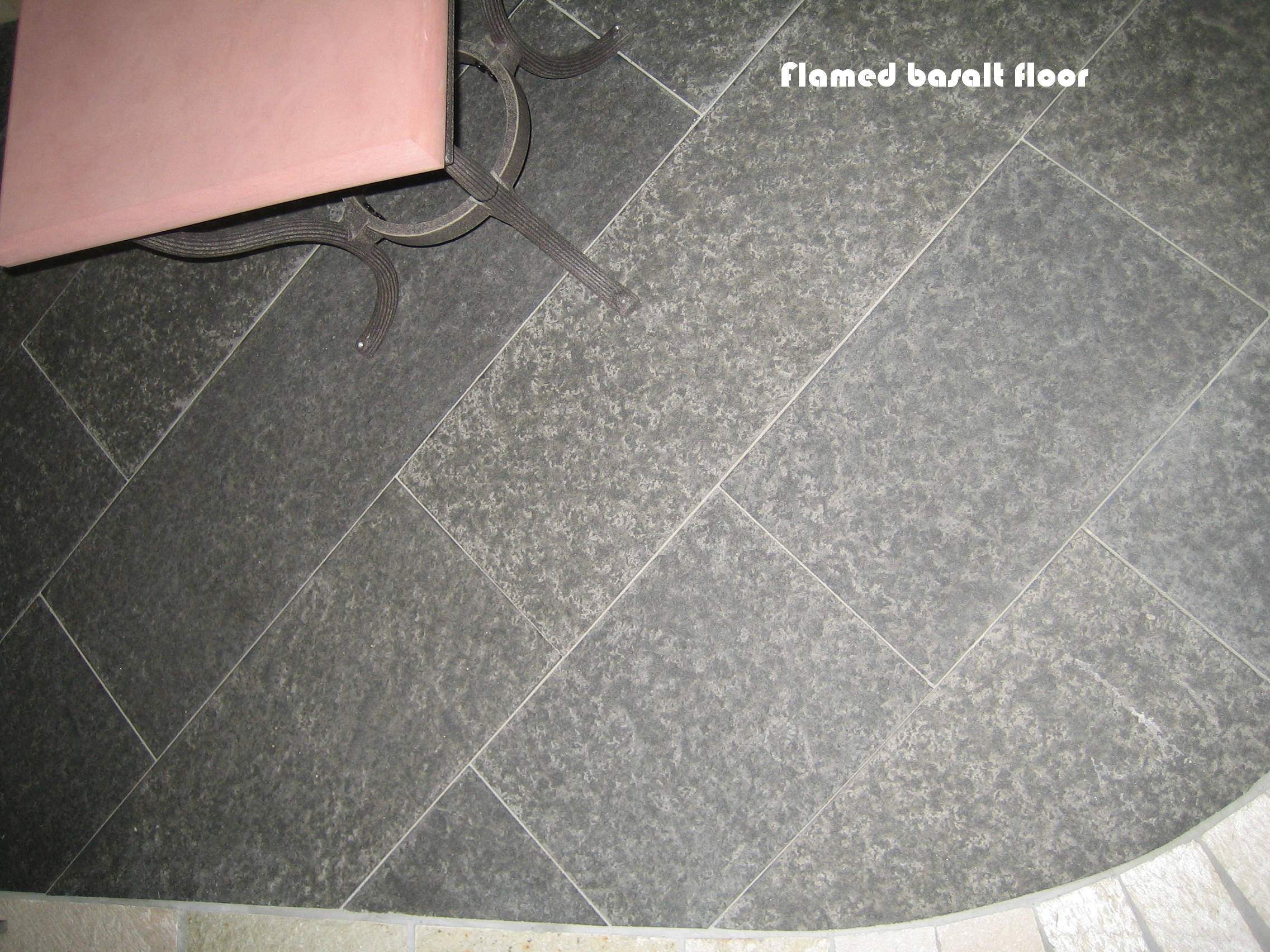 16. We have beautiful flamed basalt tiles, steps or slabs. Extremely hard surface