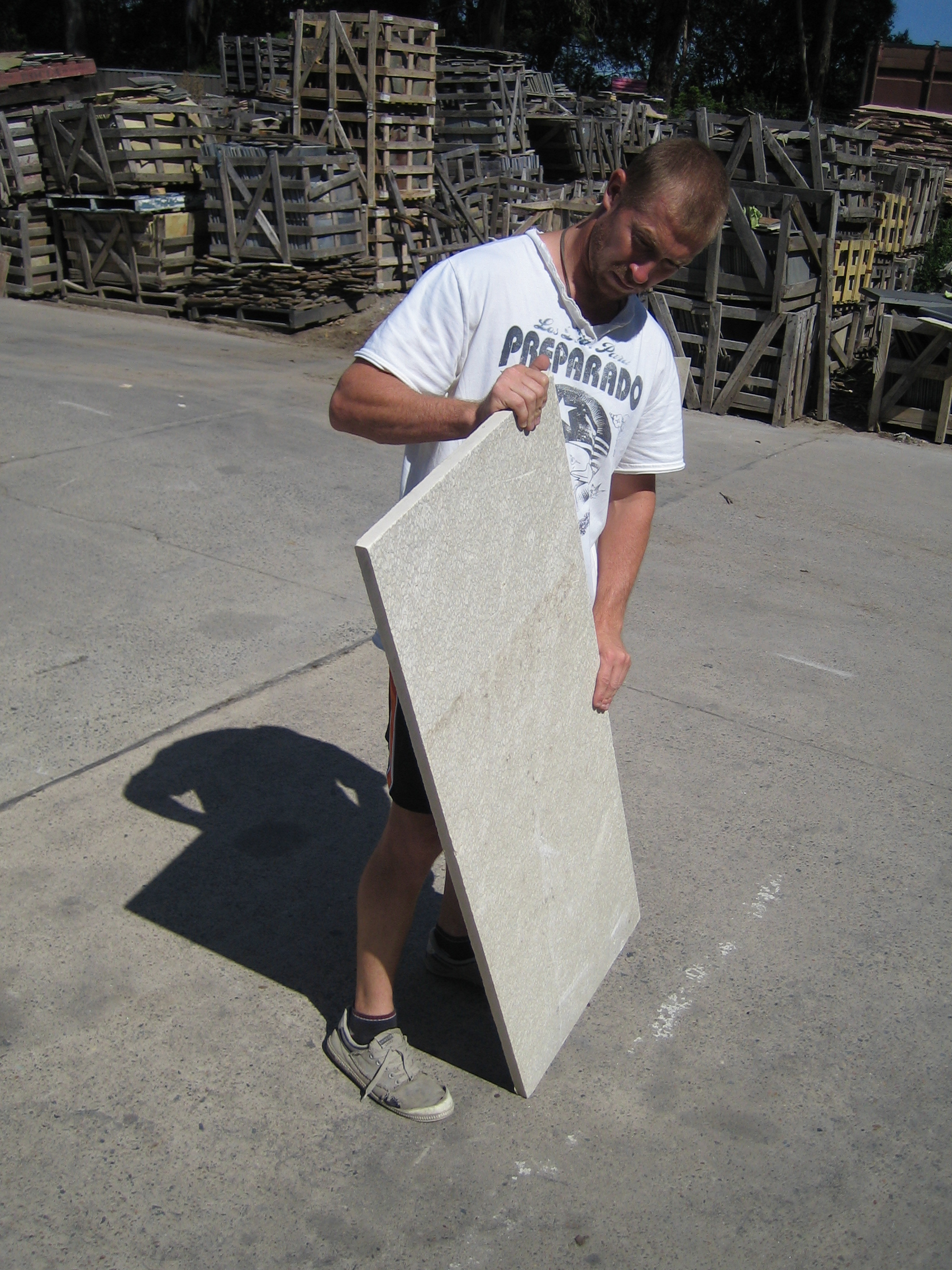 22. Slab of quartzite to be used as a step thread