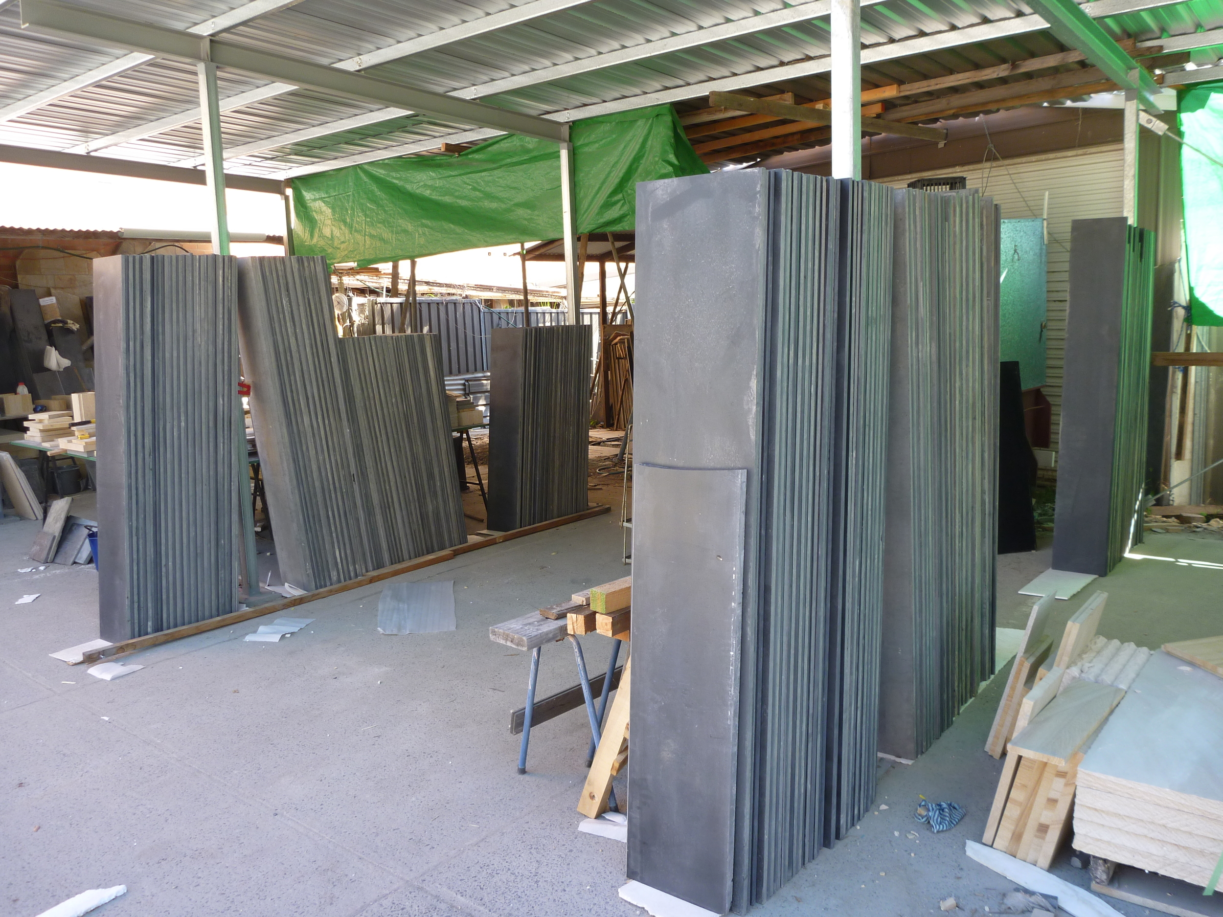 10. Slate slabs to be cut and bullnosed for steps