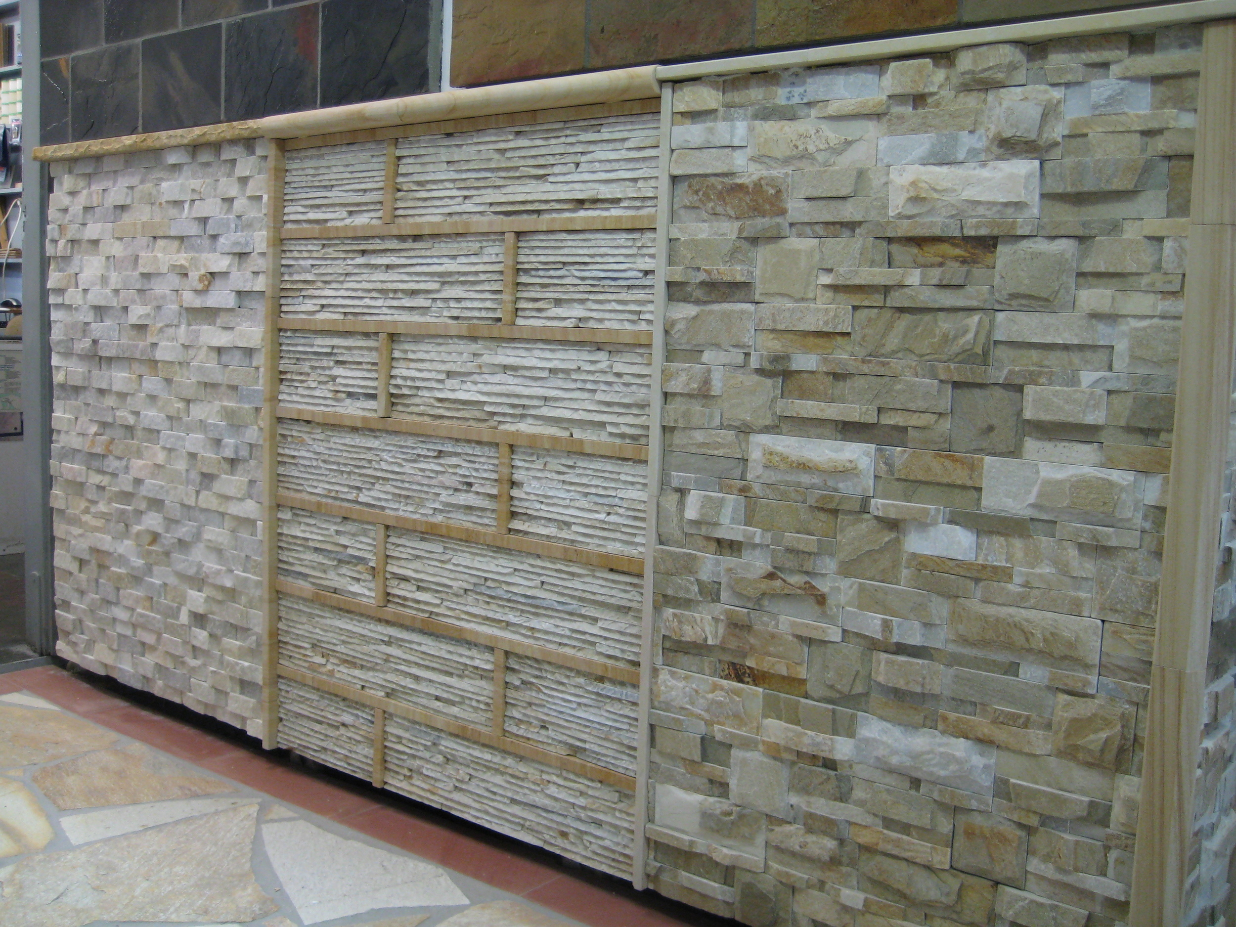 8. Cream quartzite stacker stones. Hard, suitable for water features and harsh weather conditions. Non absorband stone, there fore is not showing aging process by attracting black and green algae.