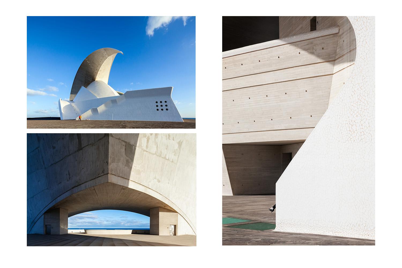 Tenerife Auditorium by Calatrava. Canary Islands, Tenerife. Spain