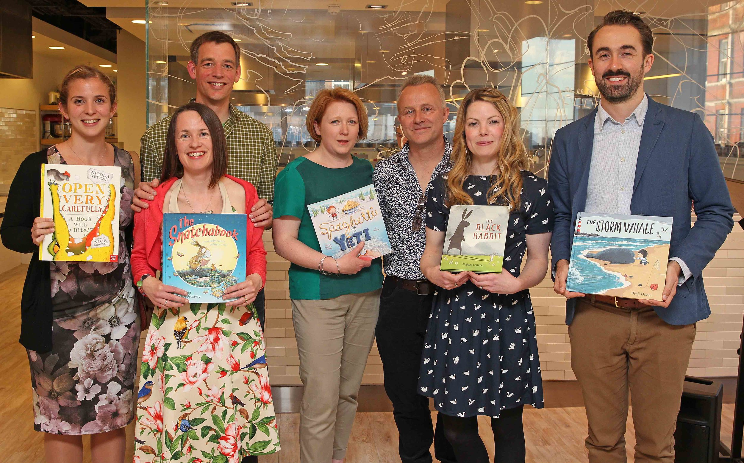 Oscar's Book Prize 2014 shortlist, from left: Nicola O'Byrne, Helen and Thomas Docherty, Charlotte and Adam Guillain, Philippa Leathers and Benji Davies