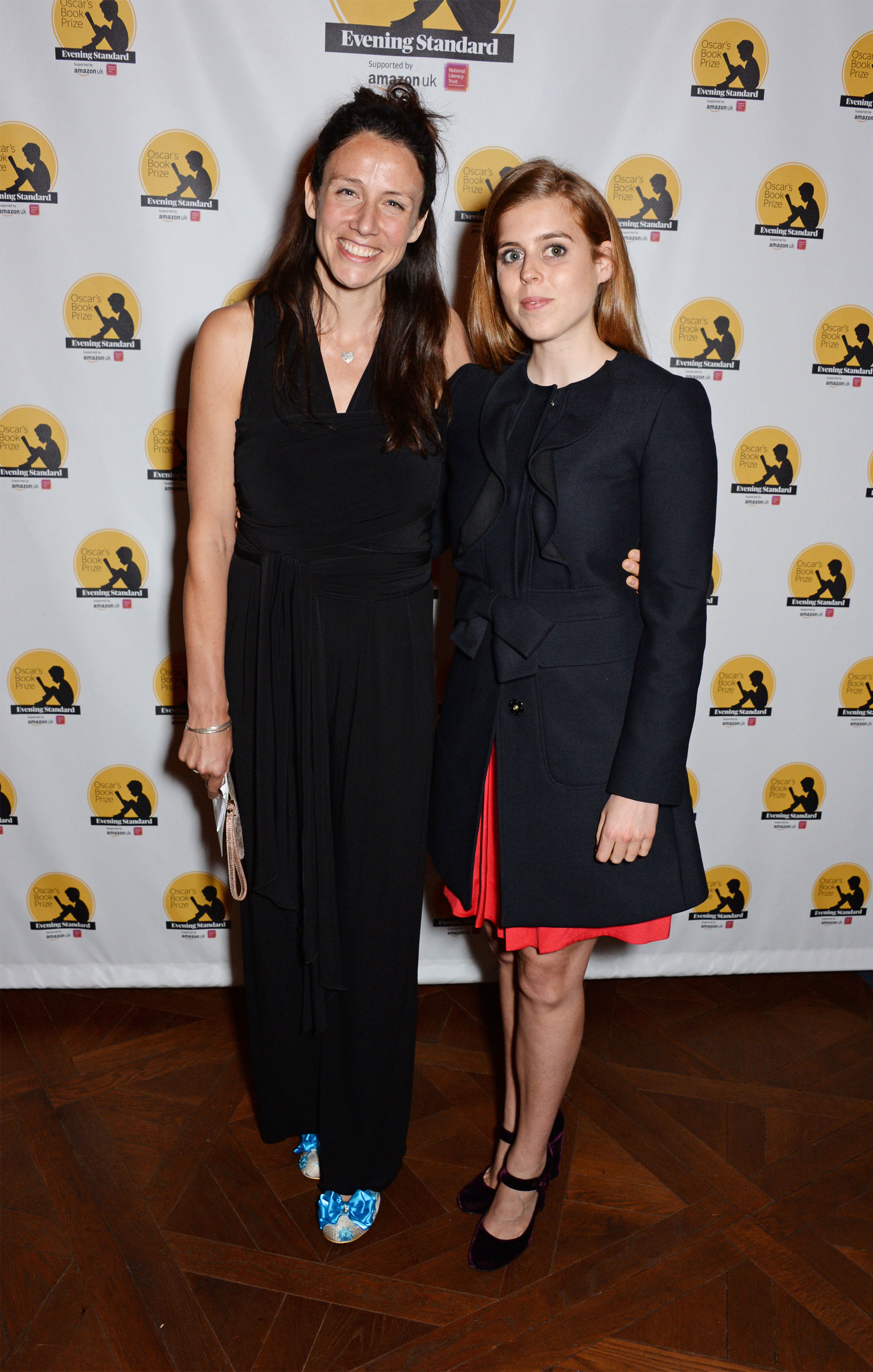 Winner: Rachel Bright, author of The Koala Who Could, winner of the 2017 Oscar's Book Prize, with prize patron HRH Princess Beatrice. (Photo: Dave Benett)