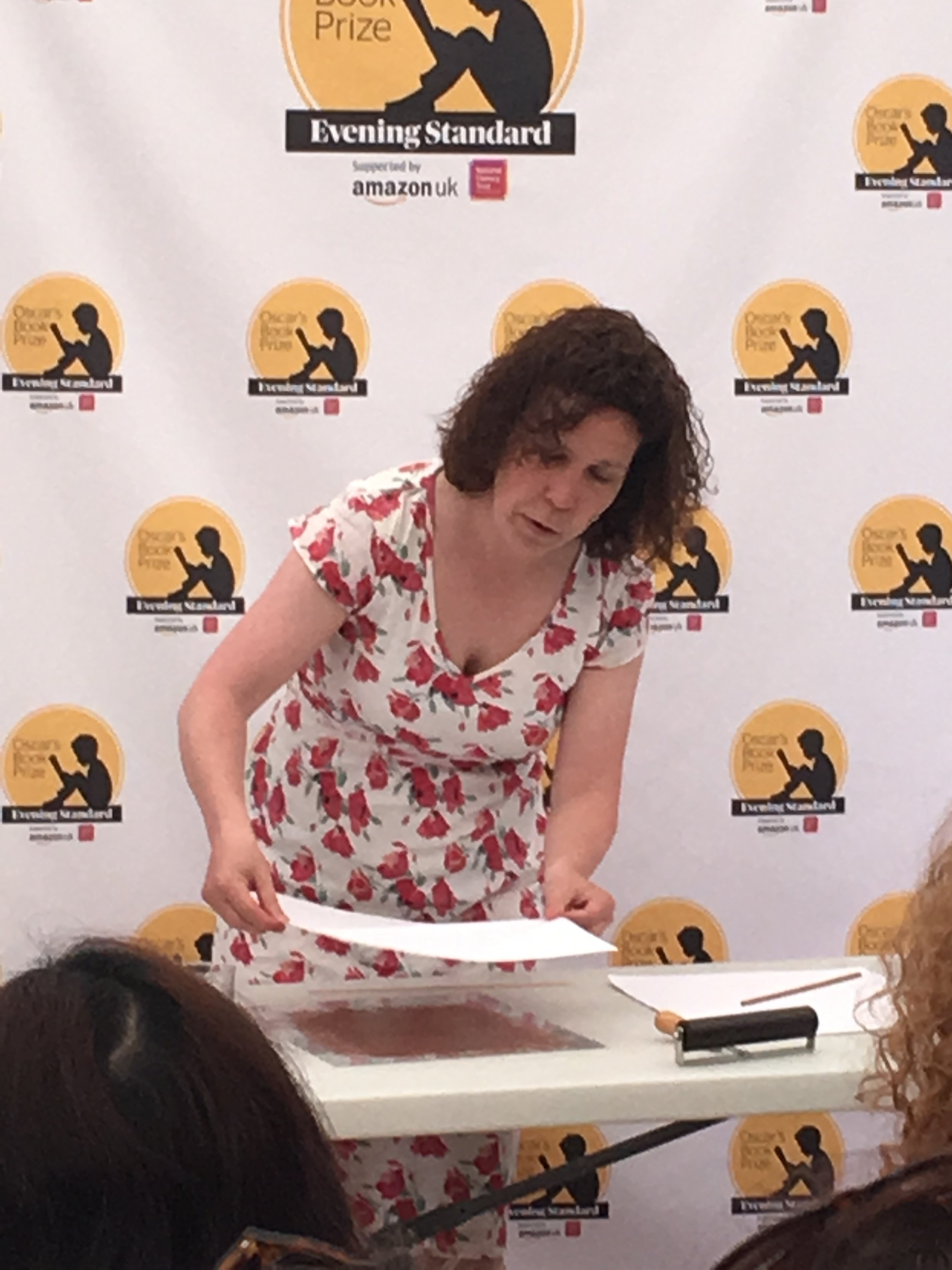 Gemma Merino does a live demonstration at the Hay Festival using one of the illustration techniques she likes to use in her work