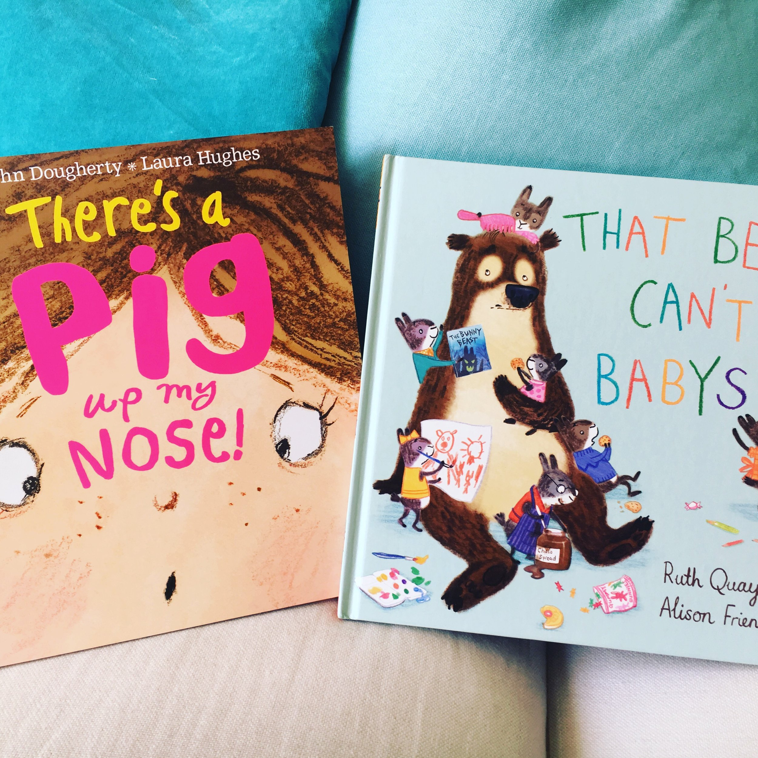 Two of this year's shortlisted titles: The authors and illustrators of That Bear Can't Babysit and There's a Pig Up My Nose will be at an Oscar's Book Prize-themed session at the Barnes Children's Literature Festival on 12 may