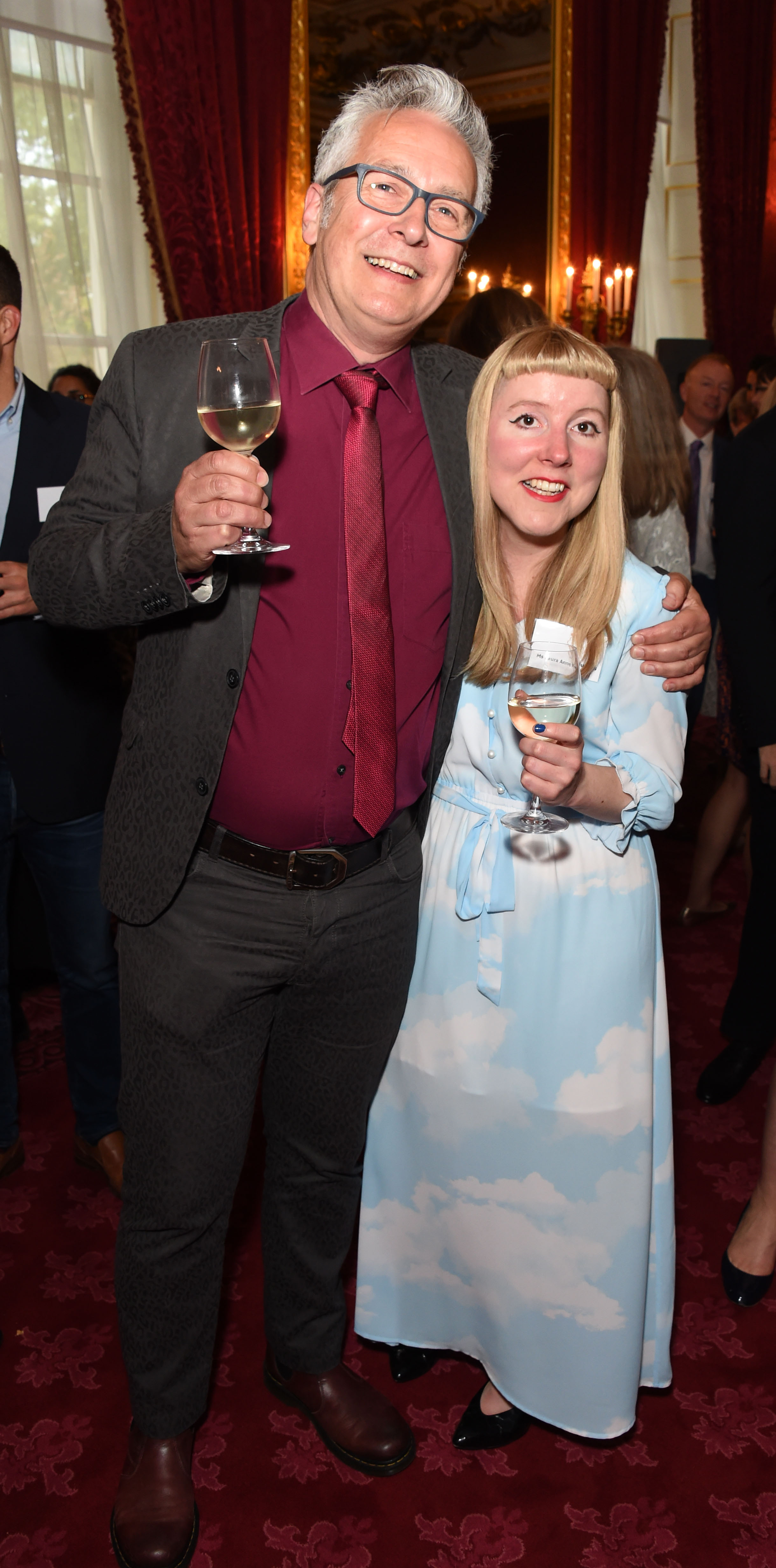 Winners: John Docherty and Laura Hughes at the 2018 Oscar's Book Prize ceremony