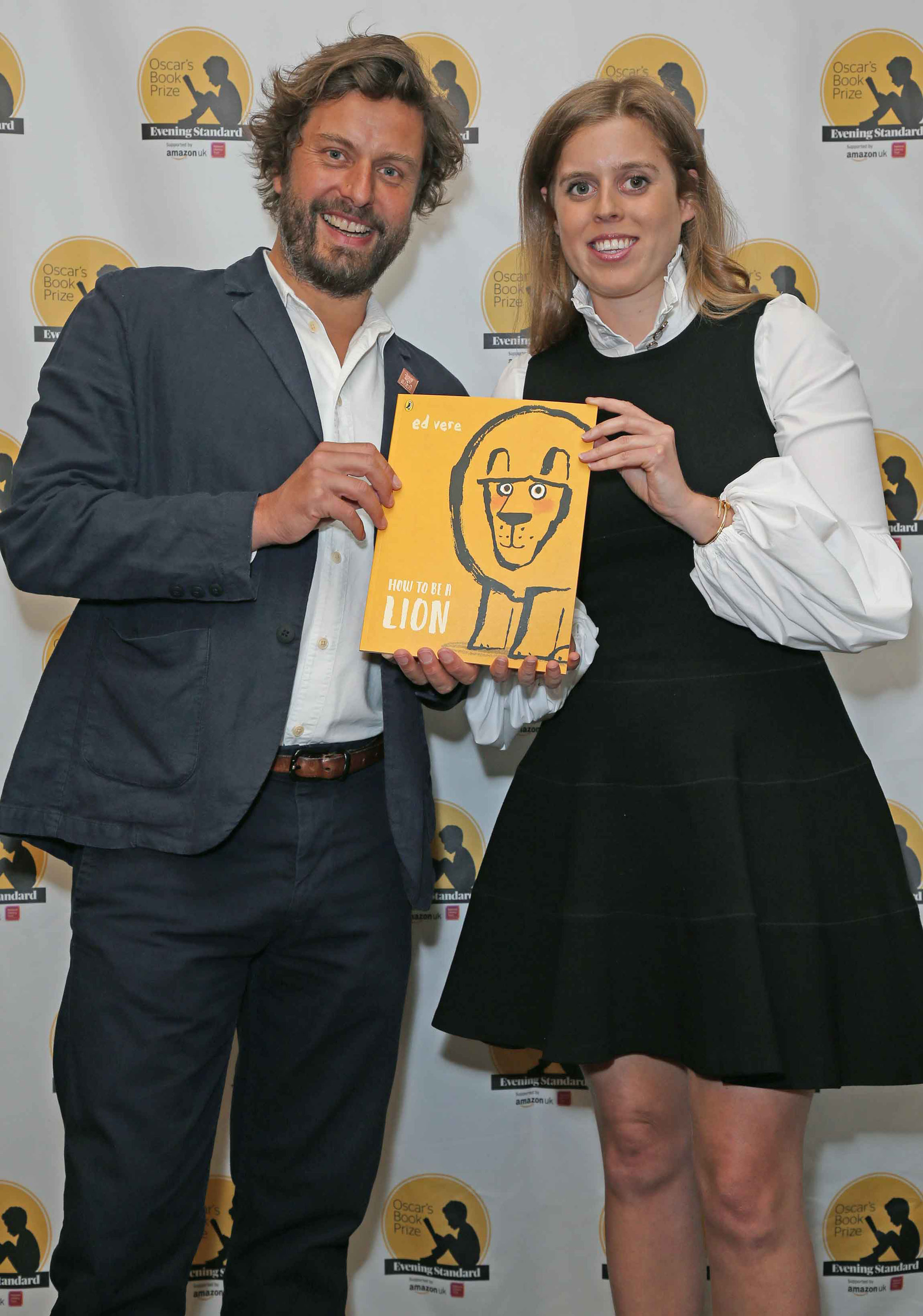 Worthy winner: Ed Vere, recipient of the 2019 Oscar's Book Prize, with HRH Princess Beatrice. Photography: Nigel Howard Media.