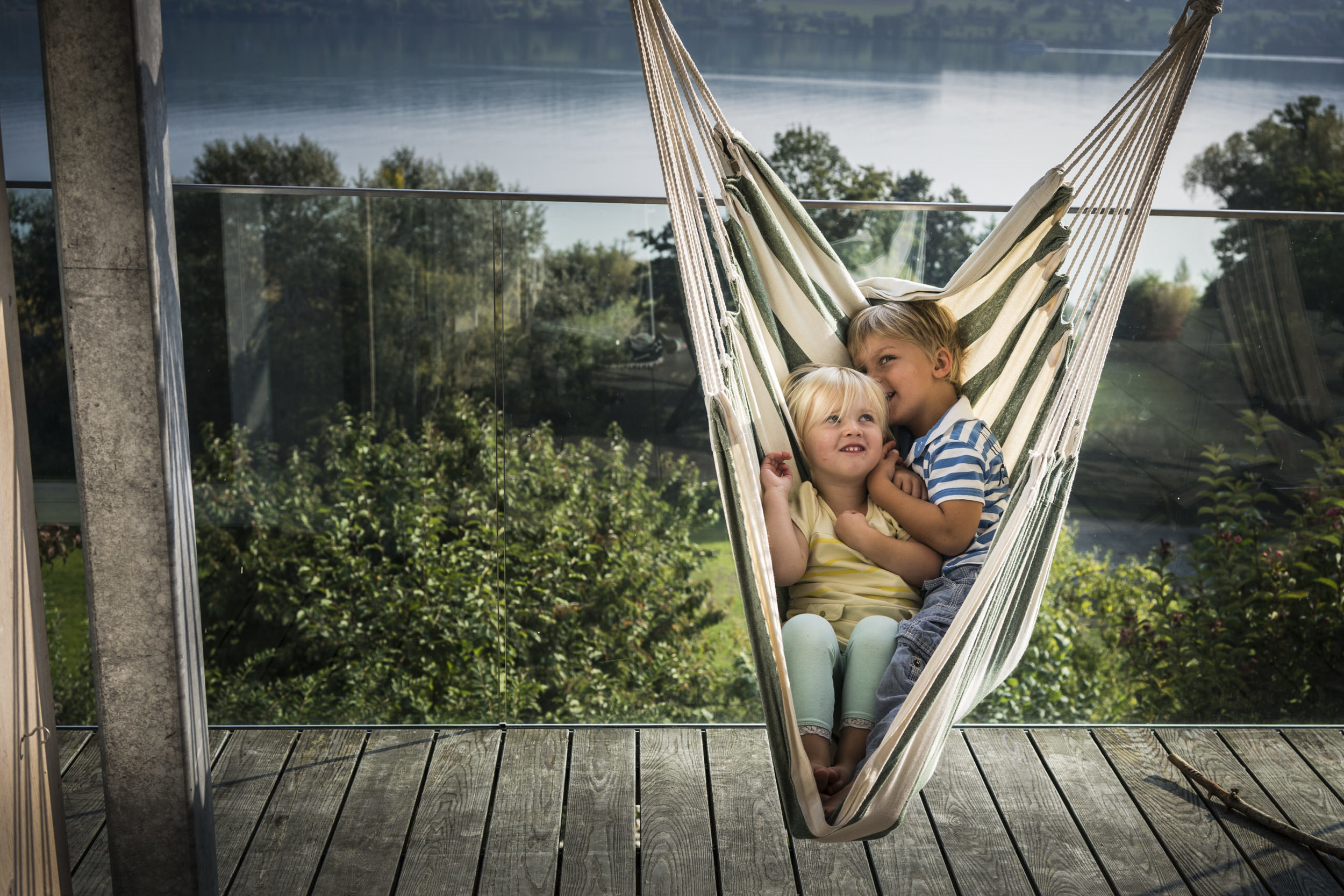 Familienfotos am See