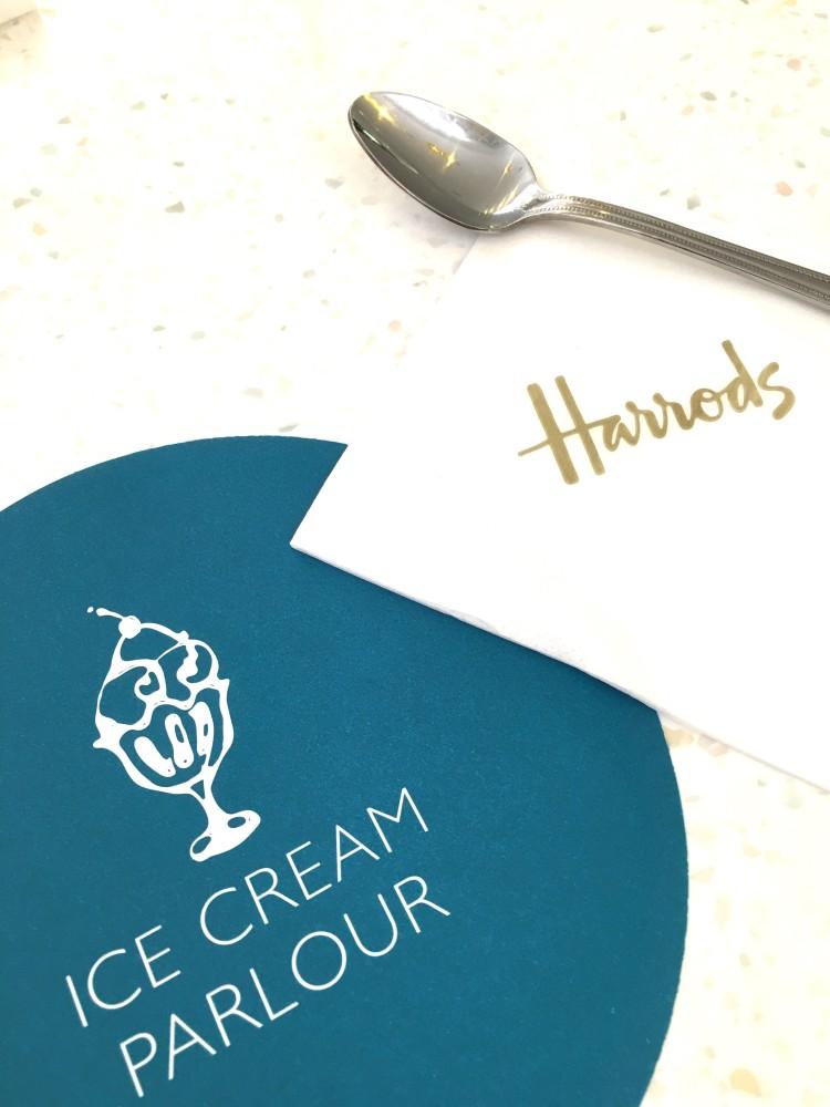 Harrods ice cream parlour