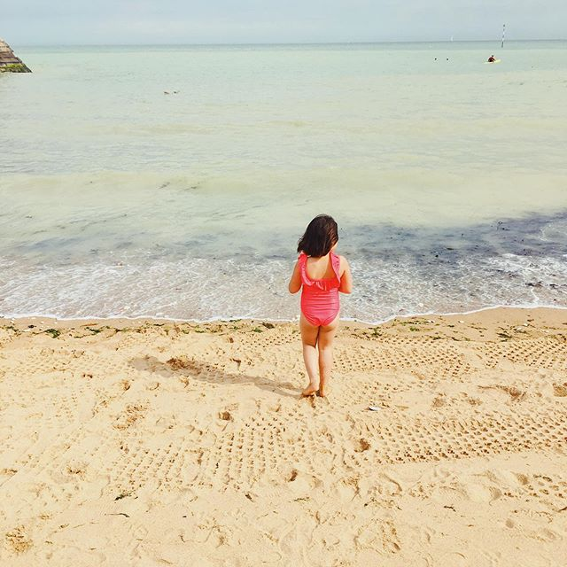 Can't keep this beach bum out of the sea🏖#summer #beach #britishsummer #familytravel #travelblogger #childhood #lifestyle #lifestyleblogger #style #parenthood #motherhood #mumlife