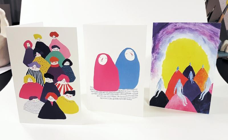 claire de lune art greetings cards