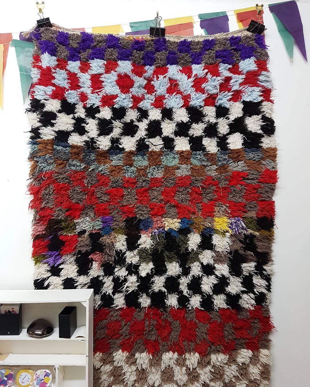 berber rug artist studio
