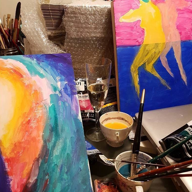 desk liquitex sennellier paints