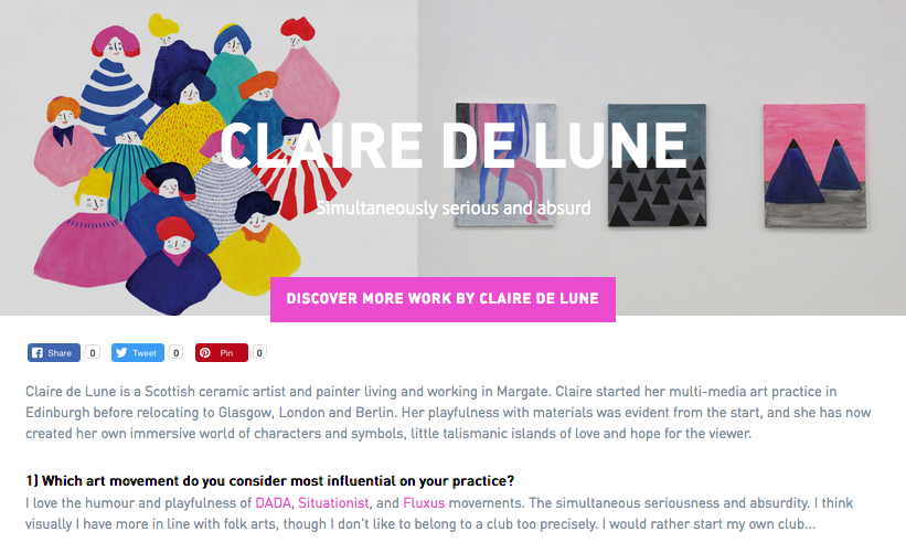 DegreeArt / MEET THE ARTIST:Claire de Lune - an fun conversation about music, inspiration and my creative process with DegreeArt