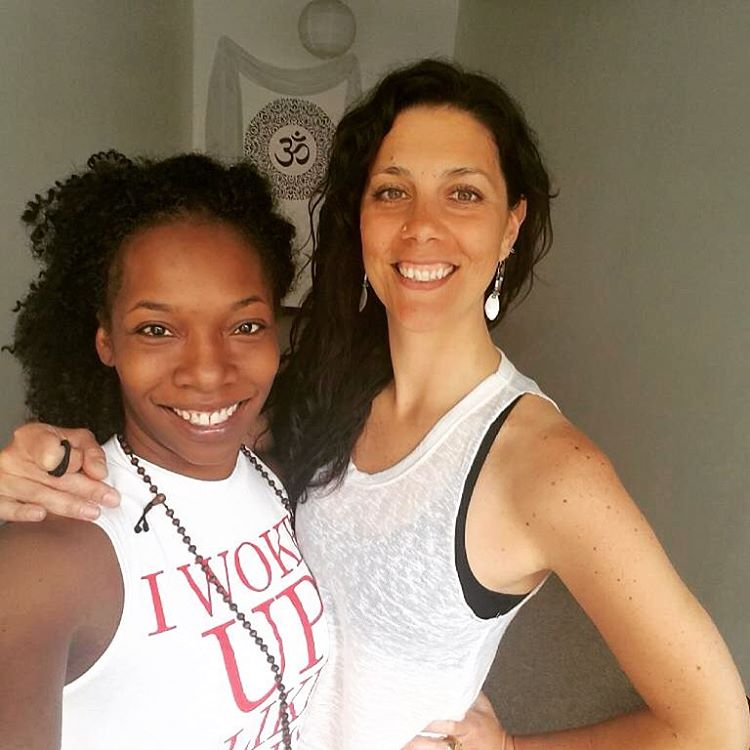 @thepleasuredmom ms kim baker simms makin my day today.. Insights, visions, yoga and real talk.. Bringing life to Stacked today. thank you beauty! #aphrodite #goddesses #onelove