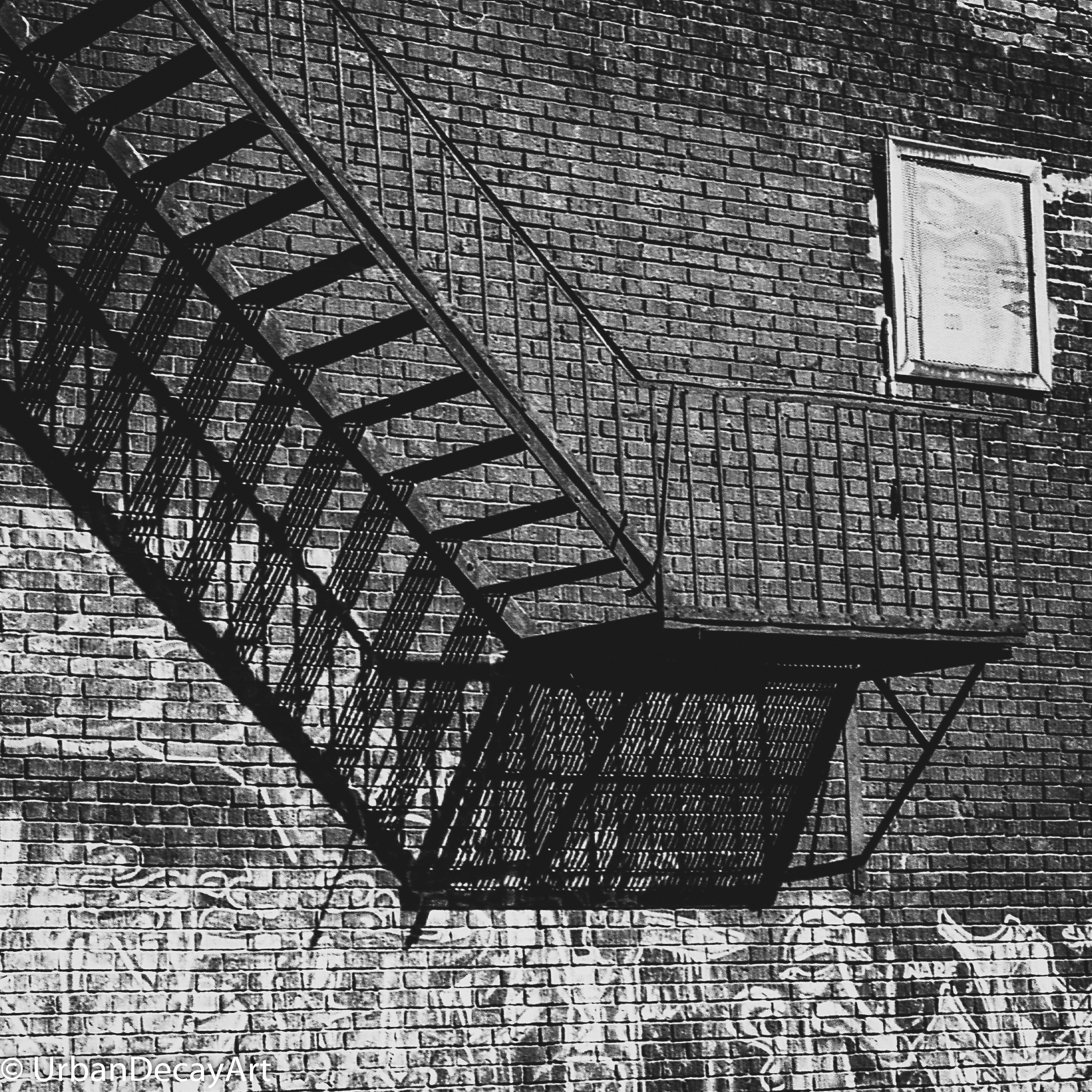 Stairs Porta 400 35 mm converted to Black and white