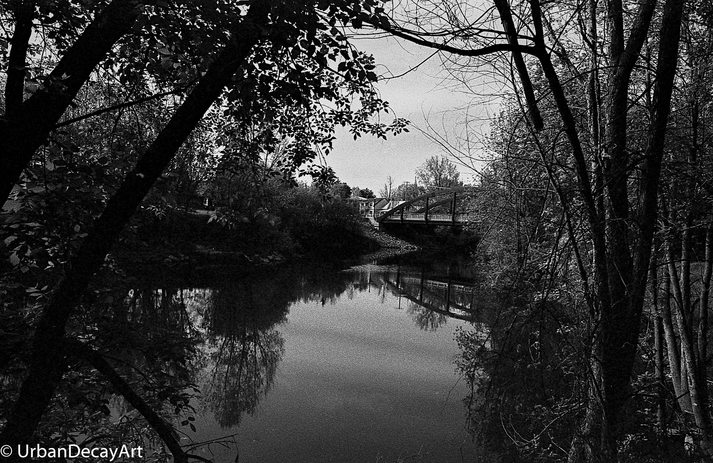 River Bridge Ormstown Tri-x 35mm