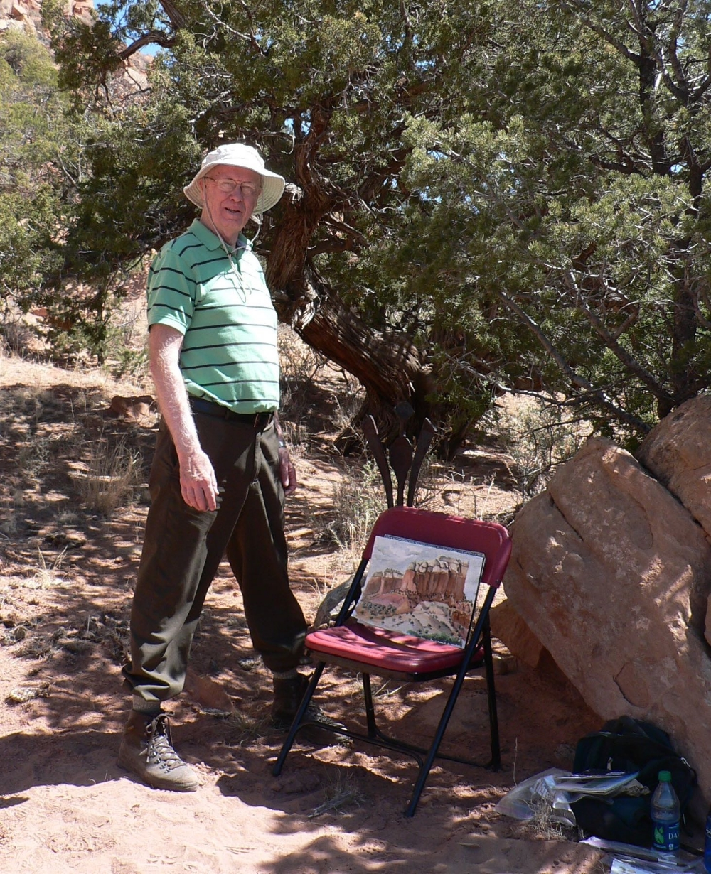 On-site painting at Ghost Ranch, New Mexico