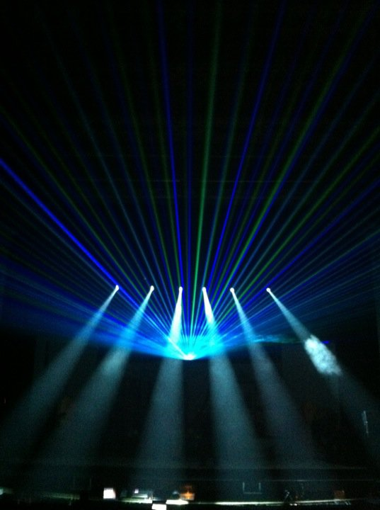 Laser Beams and Moving-Head Lighting
