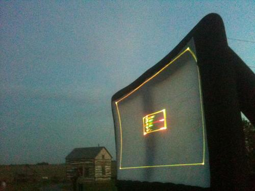 huge outdoor inflatable screen rental