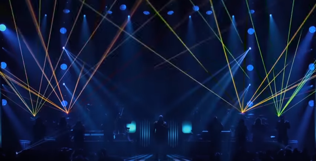 laser beam production at music awards ceremony