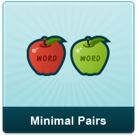 Minimal pairs compare two words that are identical except one sound.