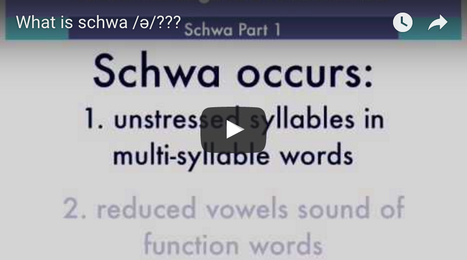 See our Schwa video for more examples of using schwa.