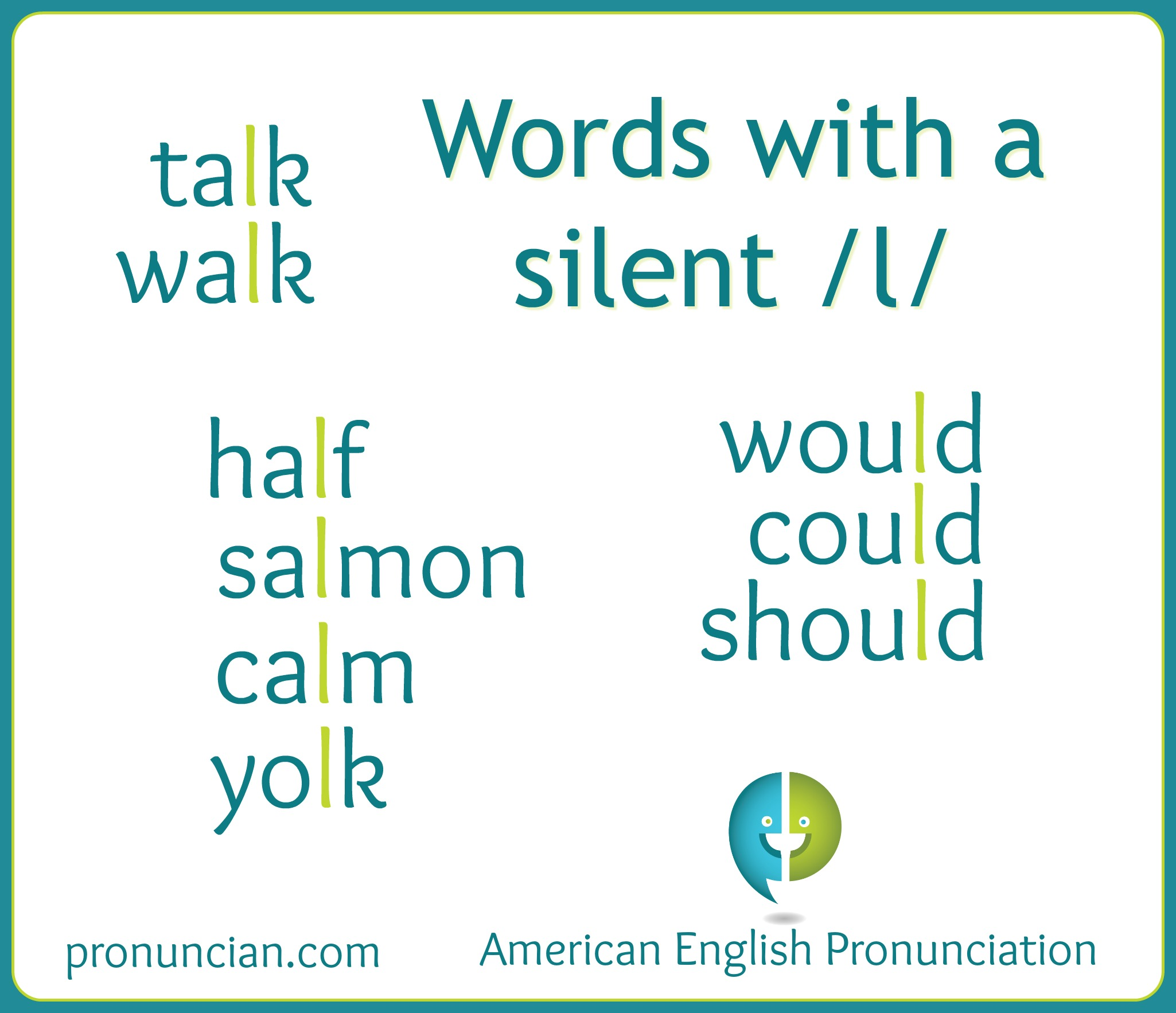 English words with a silent l