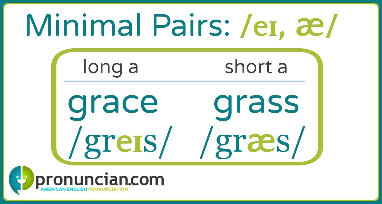 Long a/short a minimal pairs: grace/grass