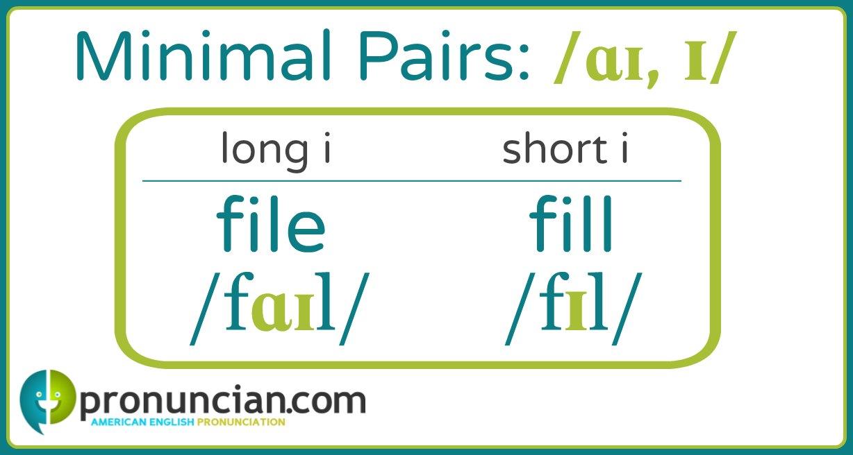 File, fill: long i, short i minimal pairs for learning English