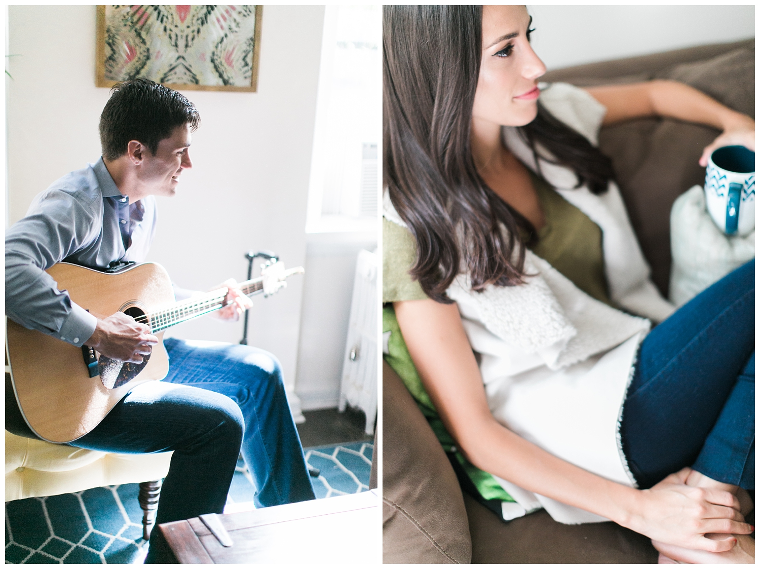 At home engagement session | NYC | Cadence Kennedy | Red Oak Weddings