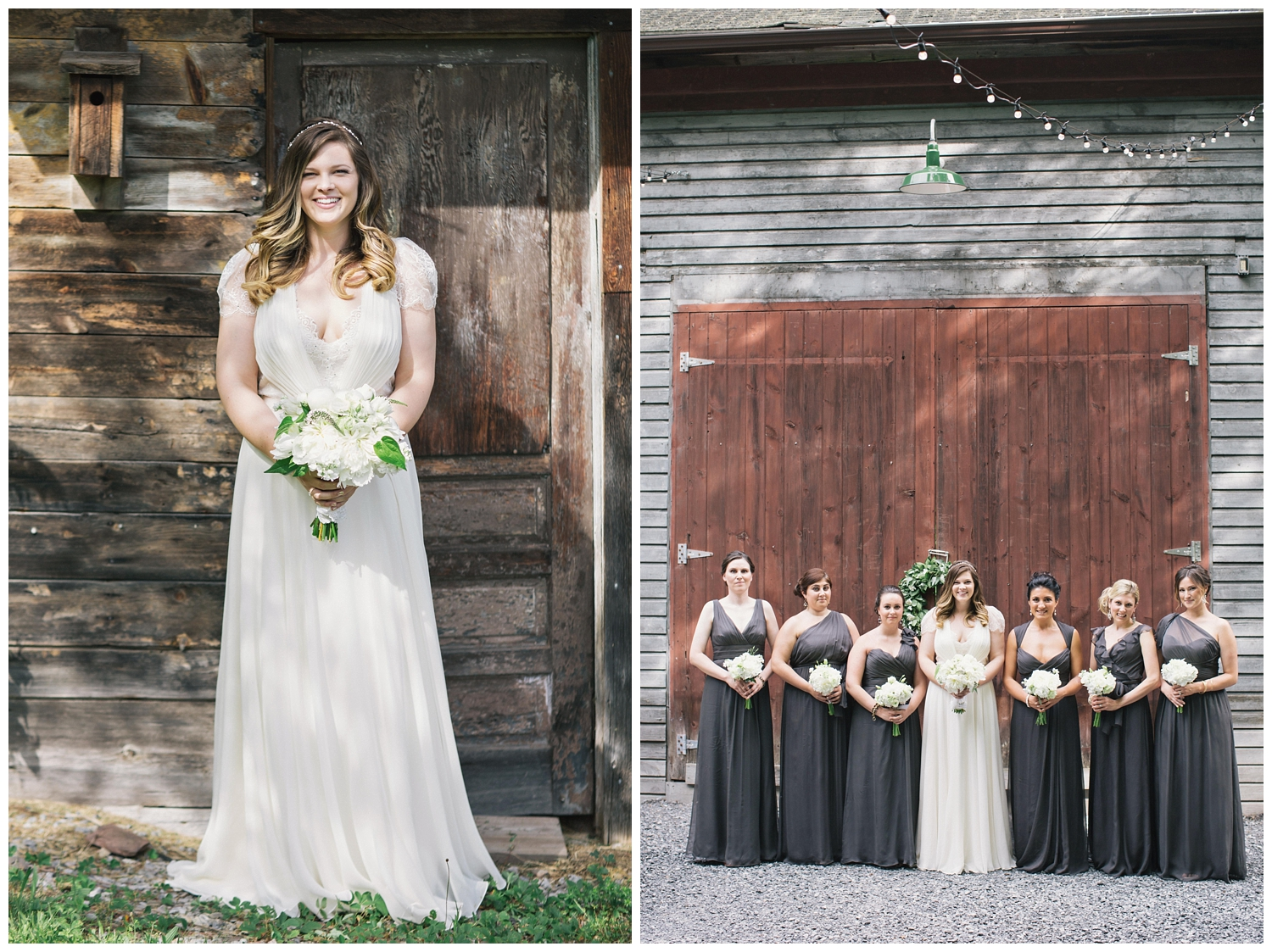The Roxbury Barn Wedding Venue | Bride and Bridesmaids | Barn Wedding