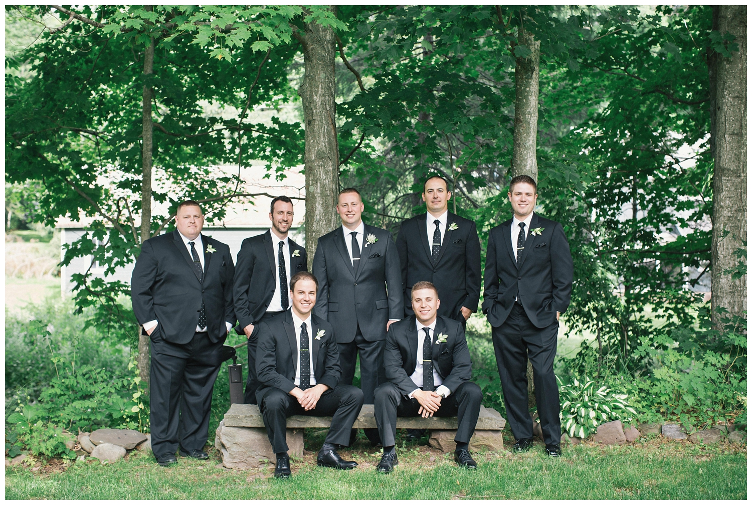 The Roxbury Barn Wedding Venue | Groom and Groomsmen | Barn Wedding