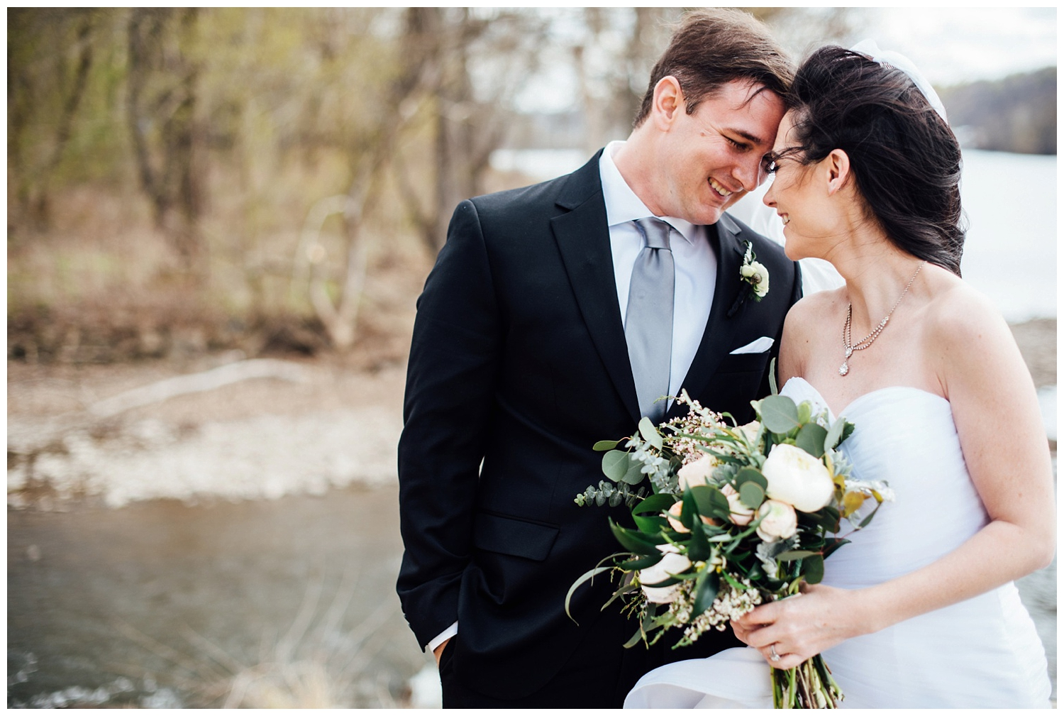 New York, New Jersey and Pennsylvania wedding vendors, resources and inspiration for the modern couple | Bride and Groom romance portrait