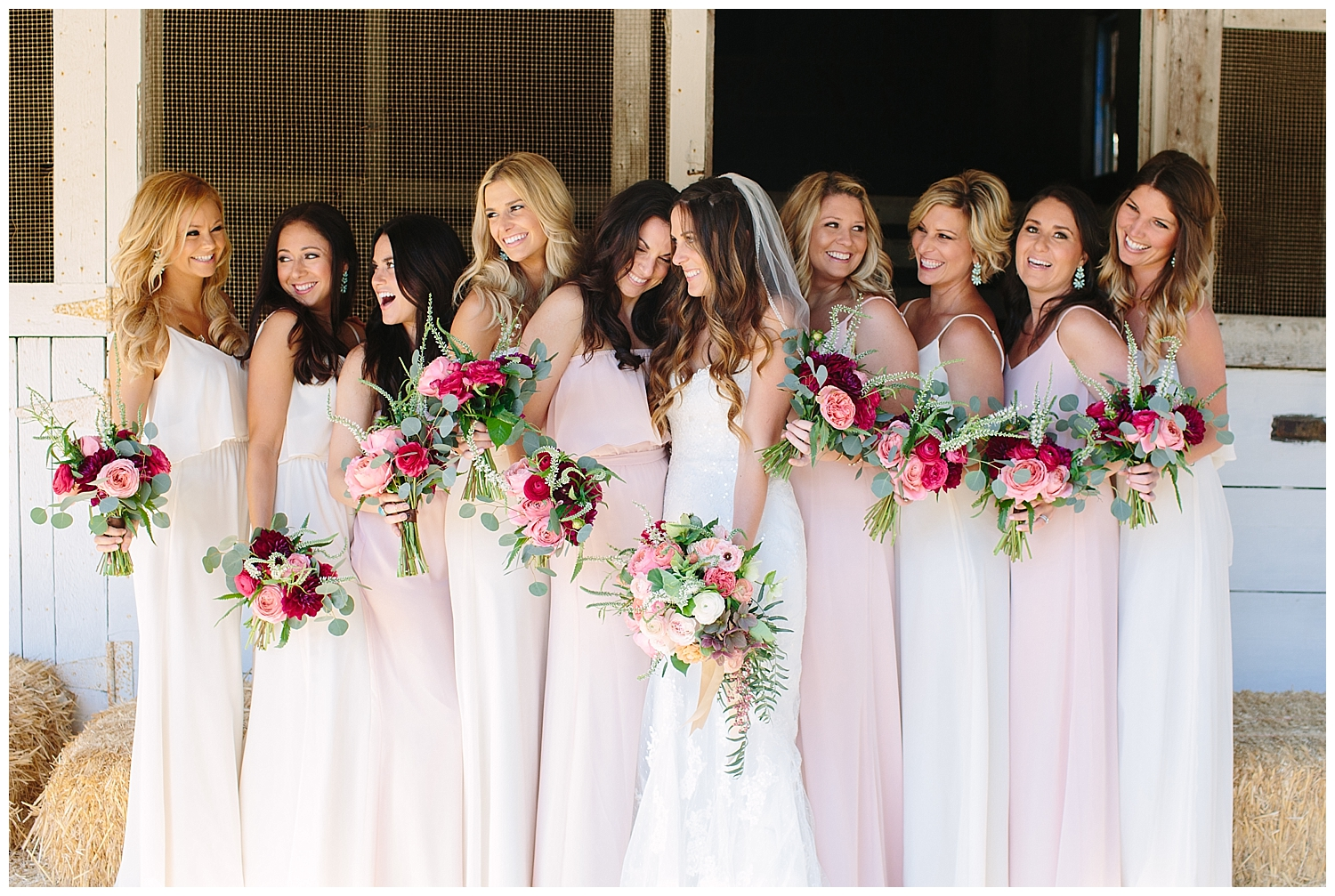Guide to the Perfectly Mismatched Bridal Party •  Bella Bridesmaids Madison