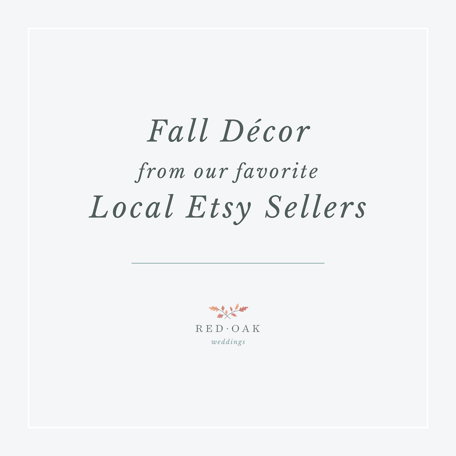 Fall Décor from our Favorite Local Etsy Sellers