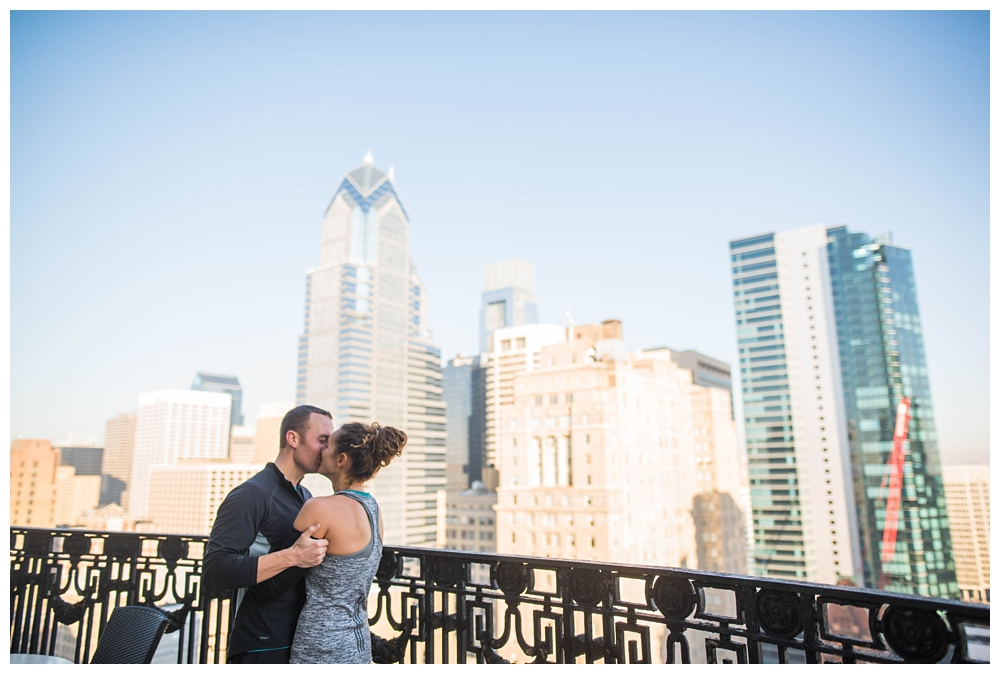 Pennsylvania Engagements | XIX Nineteen in Philadelphia | Real weddings, engagements and inspiration for the modern NJ Bride | www.redoakweddings.com