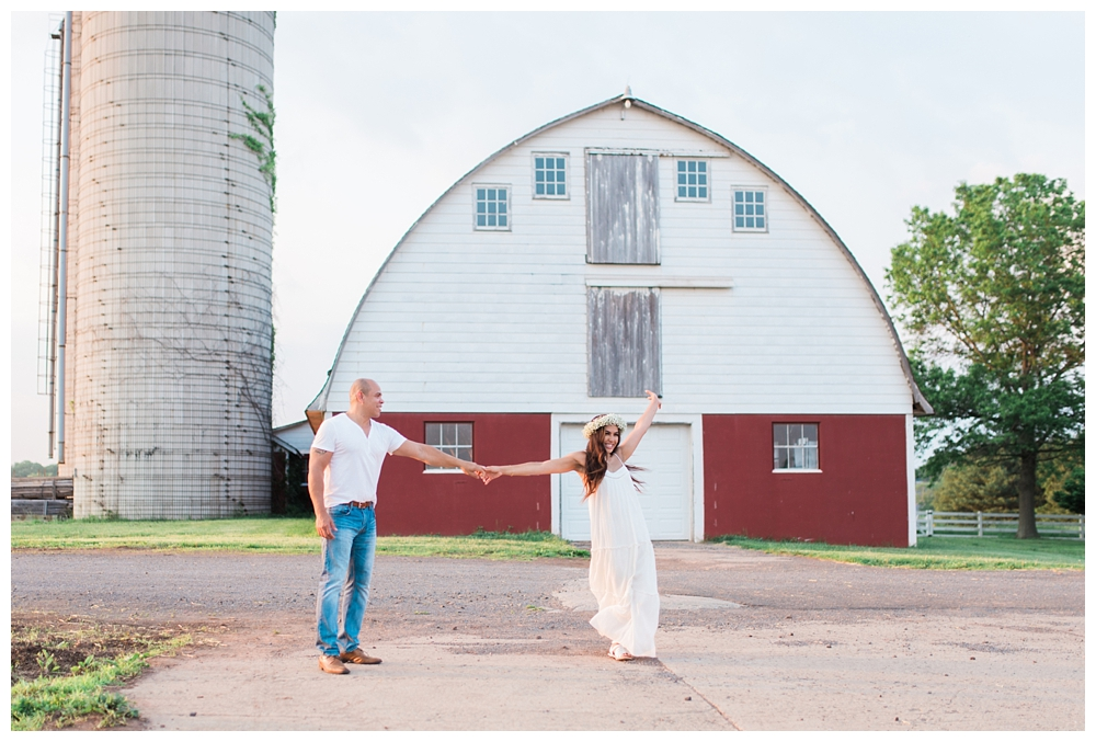 New Jersey Engagements | South Branch School House, Somerset County, NJ | Real weddings, engagements and inspiration for the modern NJ Bride | www.redoakweddings.com